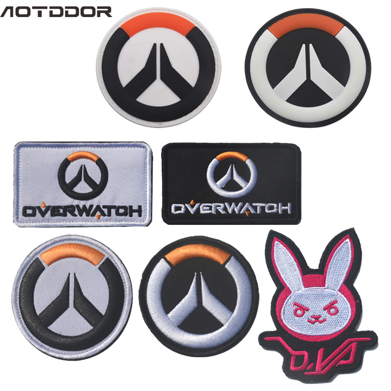 Watch Pioneer Badge Velcro Shoulder Emblem Overwatch Ow Embroidered Backpack Sticker PVC Soft Stickers