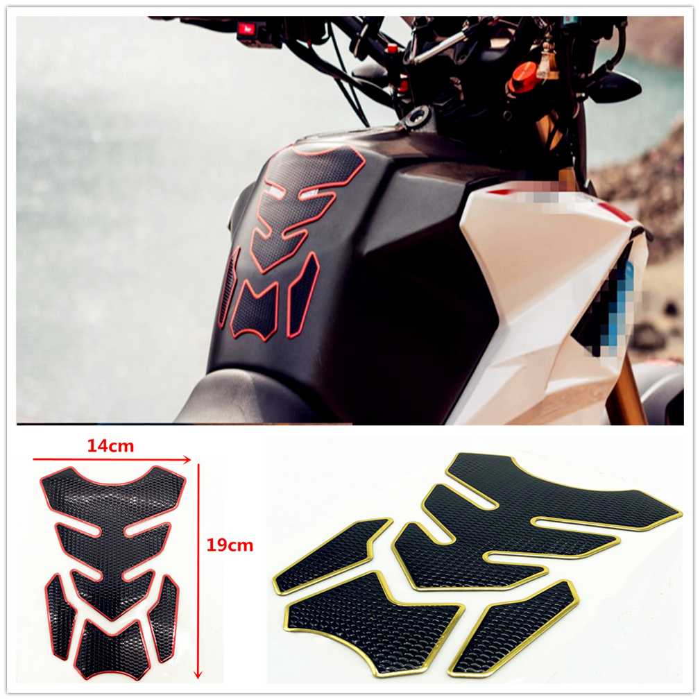 3D universal Motorcycle Fuel Oil Tank Pad Rubber Cover <font><b>Sticker</b></font> For HONDA VTR1000F FIRESTORM CBR125R <font><b>CBR300R</b></font> CB300F FA CRF250L image