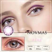 2pcs Pair Contact Lenses Colored Contact Lenses for Eyes Colored Yearly Blue Brown Colorful Beauty Eye Contact Lenses Eye Color cheap NOVMAS CN(Origin) 14 2mm Two Pieces 0 04-0 06 mm HEMA Big Eye