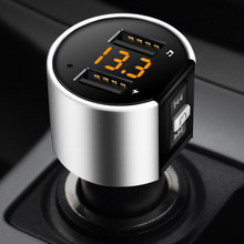 Bluetooth FM Transmitter Car MP3 Modulator Handsfree Kit Cigarette Lighter Dual USB car Free Shipping