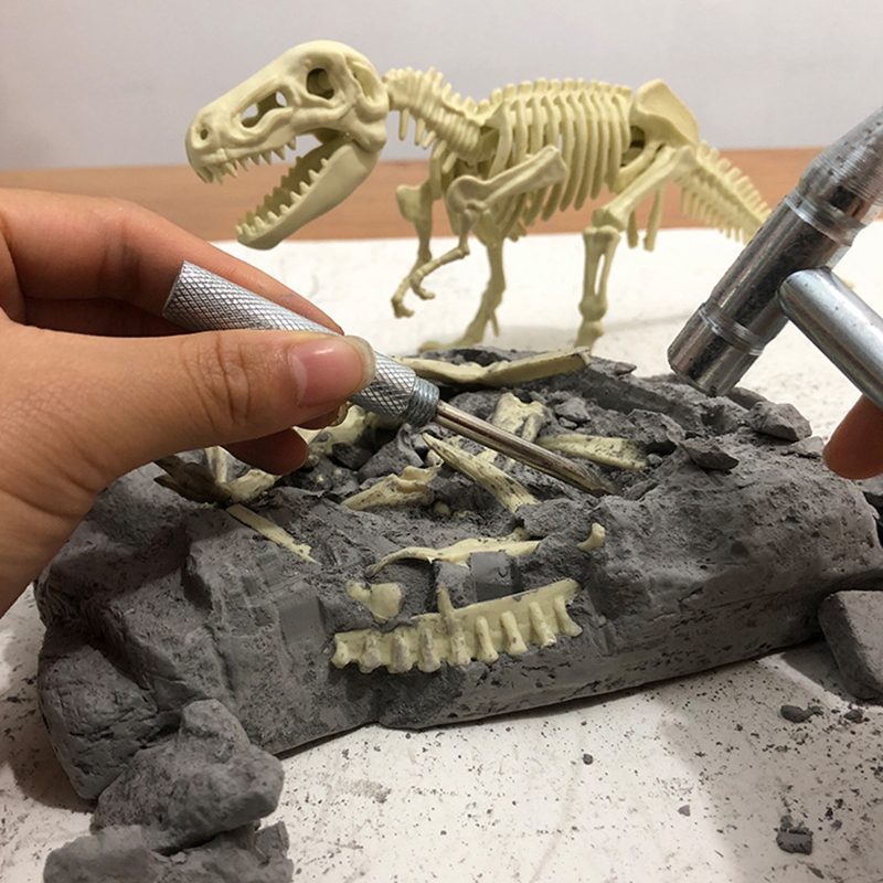 Excavation Simulation Archaeological Dinosaur Fossils DIY Tyrannosaurus Skeleton Hand-assembled Model Children's Toys