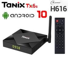 أحدث TANIX TX6S الذكية أندرويد 10.0 صندوق التلفزيون 4GB RAM 32GB 64GB ROM Allwinner H616 واي فاي مشغل الوسائط 4K 6K HD 2GB 8GB مجموعة صندوق