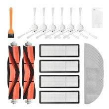 Quente!-filtro hepa mop pano escova lateral principal para xiaomi 1c stytj01zhm dreame f9 robô aspirador de pó peças de reposição