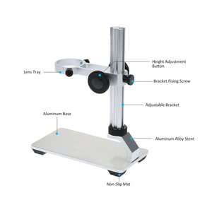 Image 3 - G600 in Lega di Alluminio Del Basamento Del Supporto Della Staffa Supporto di Sollevamento per Microscopio Digitale Usb Microscopi