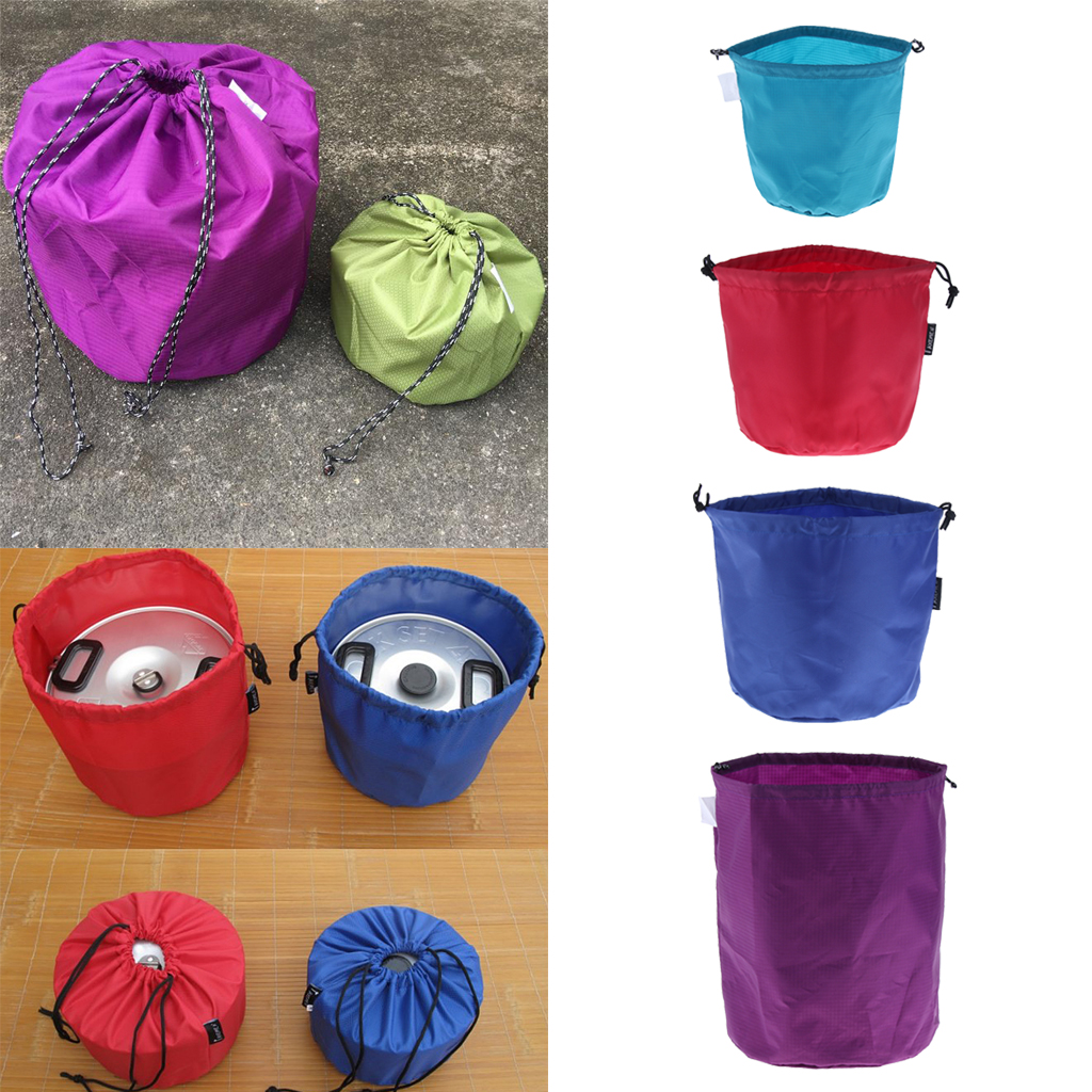 Camping Tableware Pot Storage Bag Drawstring Organize Picnic Plates Bowl for Outdoor Camping Picnic BBQ