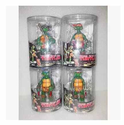 4 Pcs/lot Asli Neca Turtles Raphael Leonardo Michelangelo Donatello Action Figure Model Mainan