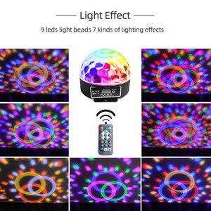 Image 5 - 9 色マジックボール効果光ledステージパーティーランプdmx 512 コントローラーdjパー光音声起動ステージライトリュミエールレーザー