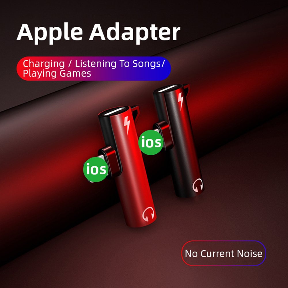For Lightning Audio Adapter 3.5MM For IPhone Xs Max Xr X 8 7 Plus Splitter Earphone Headphone Connector OTG Cable Adapter