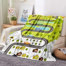 Фланелевое Одеяло для автомобиля Флисовое одеяло с мультяшной