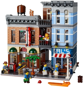IN STOCK Detective's Office Street view Building Blocks Bricks 15011 Lepining CREATOR Street View 10246  Gift for Children 1