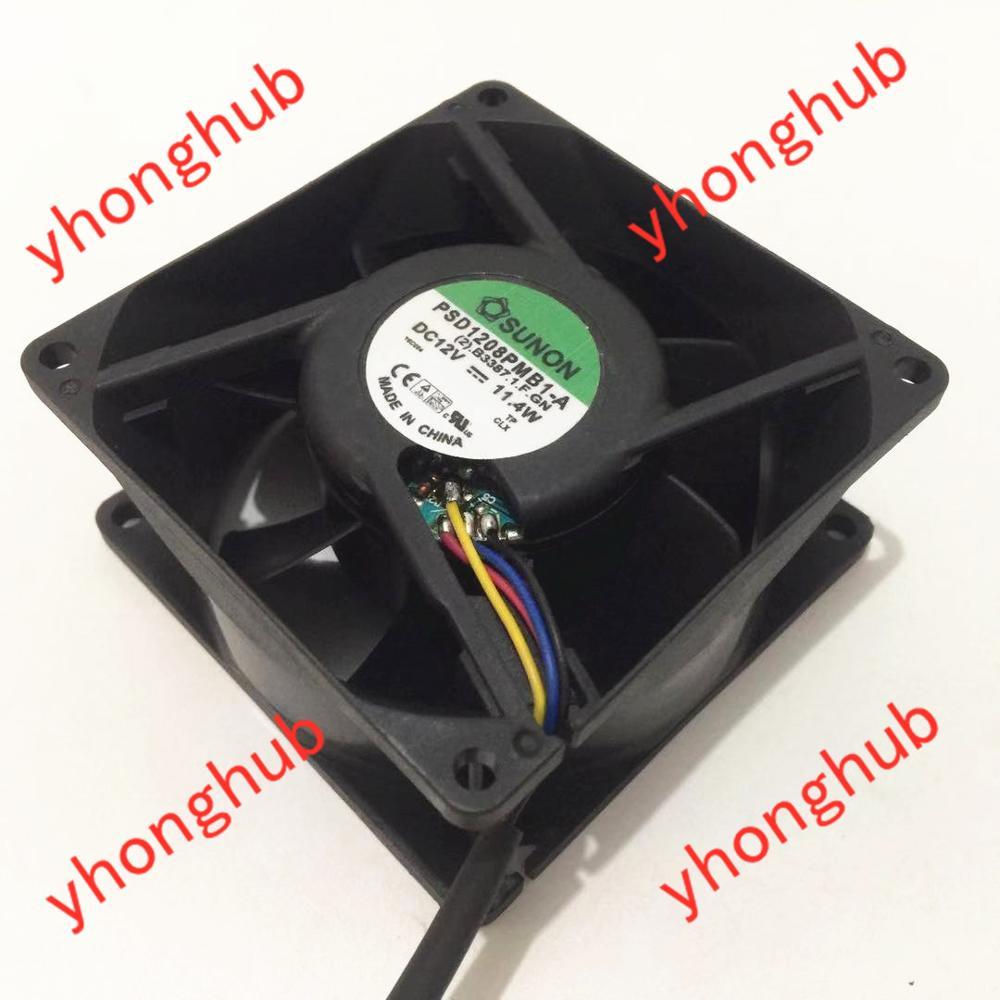 SUNON PSD1208PMB1-A (2). B3387-1.F.GN DC 12V 11.4W 80X80X38mm serveur refroidisseur ventilateur