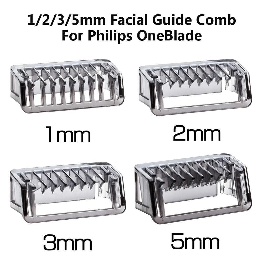 1 2 3 5mm Tông Đơ Cắt Cạo Da Cơ Thể Salon Hướng Dẫn Lược Cắt Mặt Cắt Tóc Đa Năng Chải Lông Cho Philips oneBlade