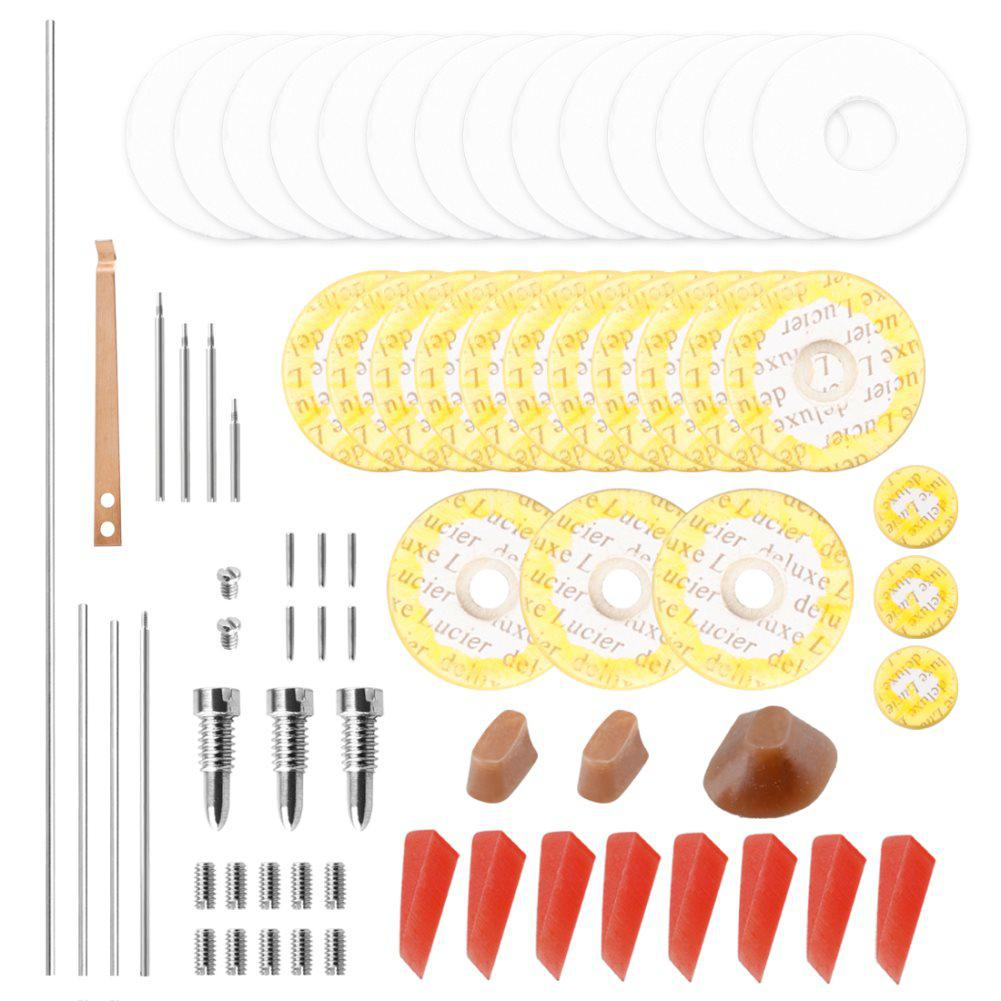 Professional Flute Repair Maintenance Tools Kit Screws+Gaskets+Pads+Dowels+Reed Musical Instrument Accessories And Case