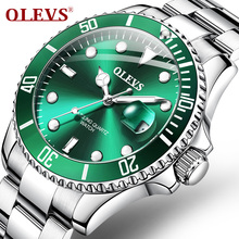 OLEVS Men's Watches movement watch Green Water Ghost male St