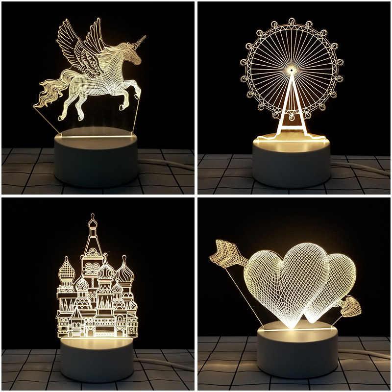 Yeni patlama ModelsusbAcrylicledWarm aydınlatma çocuk hediye yatak odası yaratıcı gece lambası süslemeleri hediye
