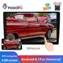 "Podofo radio de coche Android 2 Din reproductor Multimedia MP5 10,1 ""estéreo de Audio GPS Mirrorlink para Volkswagen Nissan Hyundai Kia toyota(China)"