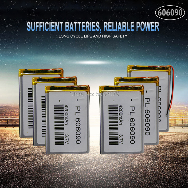 10pcs <font><b>3.7V</b></font> 606090 <font><b>4000mAh</b></font> Rechargeable <font><b>Lipo</b></font> <font><b>Battery</b></font> Tablet Dvd Camera GPS Electric Toys Laptop Lithium Polymer <font><b>Battery</b></font> image