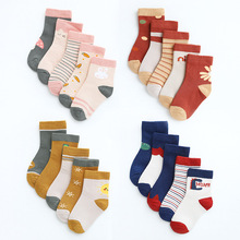 Children's Socks Girl 1-12-Years-Old Cotton Cartoon 5-Pairs/Lot New And of Leg-Warmer