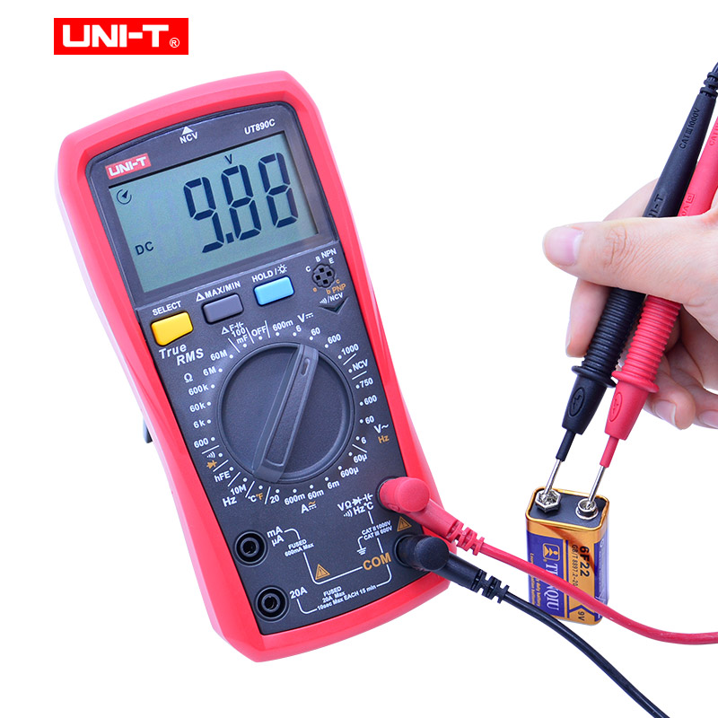 Tools : True RMS Digital Multimeter UNI-T UT890C UT890D AC DC voltage Current meter Resistance Capacitance ACV Frequency Measure LCD NCV