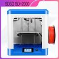 SD-2000 3d принтер закрытый печатное пространство 3d принтер мини комплект большой объем сборки Нити Экструдер fdm pla 3D-принтер