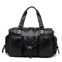 Fashion Men's PU Leather Travel Bag Outdoor Gym Large capacity Sport Handbag Tote Bag Travel Fitness Duffle Bags for Male B249