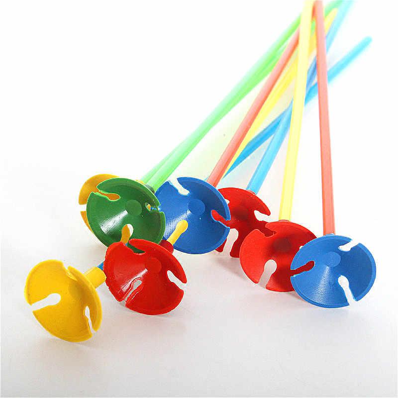 SUEF 28cm 10 zestawów kijki do trzymania balonów z kubkiem lateksowe patyczek do balonów białe pcv artykuły do dekoracji na imprezę pręty birthady wedding
