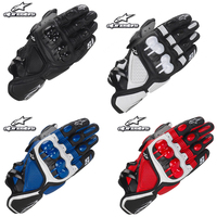 Alpine motocross stars S1 racing glove Motorcycle Gloves Leather Guantes Moto luva motociclista Motos motorbike riding gant moto