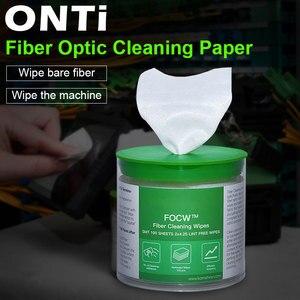 Image 1 - ONTi 280pcs/box Fiber Cleaning Wipes Platform Dustfree Paper Fiber Optic Low lint Wipes Optical Fiber Clean Paper FTTH Tools