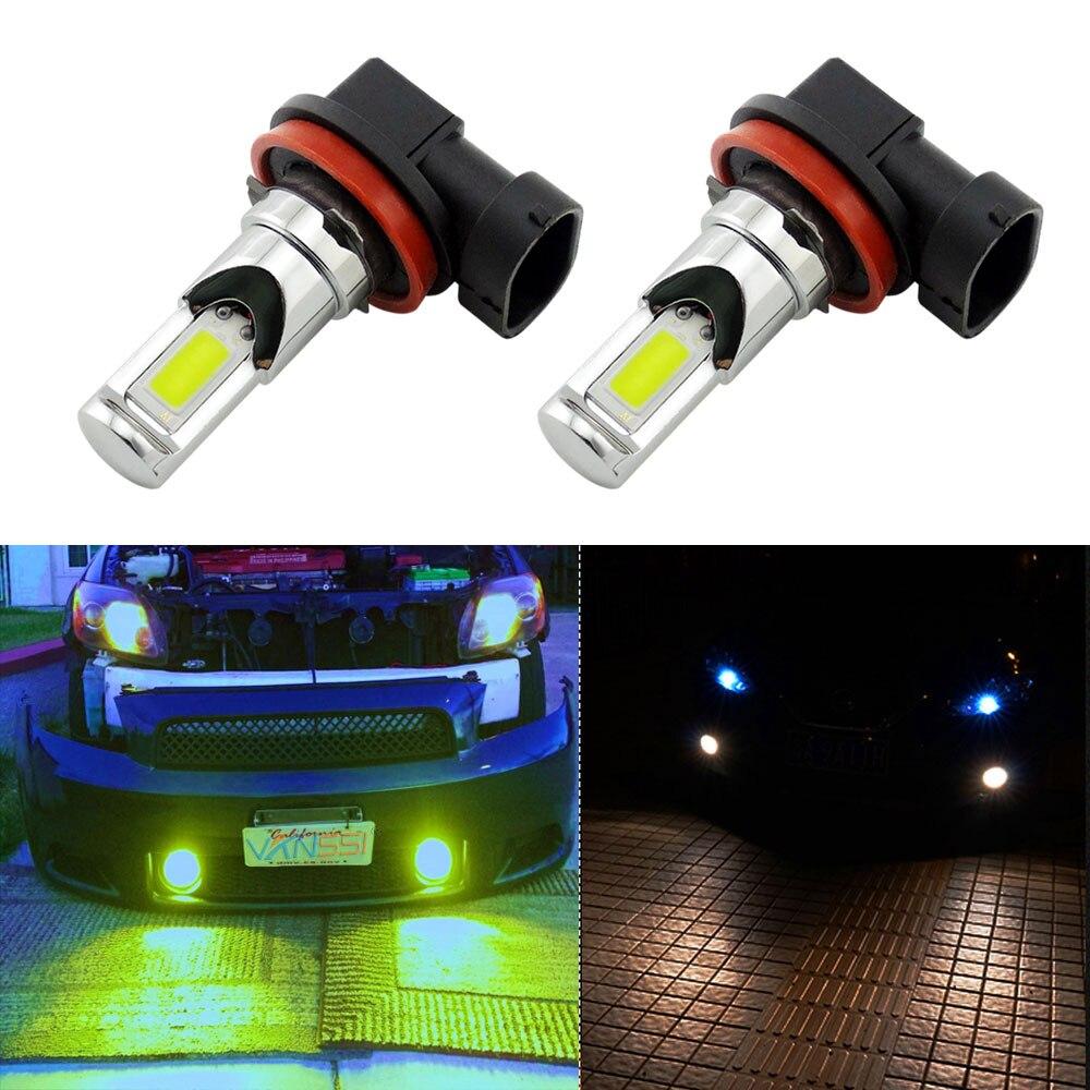 VANSSI H8 H11 LED H10 9145 HB3 9005 HB4 9006 H16 LED PSX24W 2504 H7 bombilla LED de luz antiniebla coche corriendo lámpara blanca/amarillo 12-24v