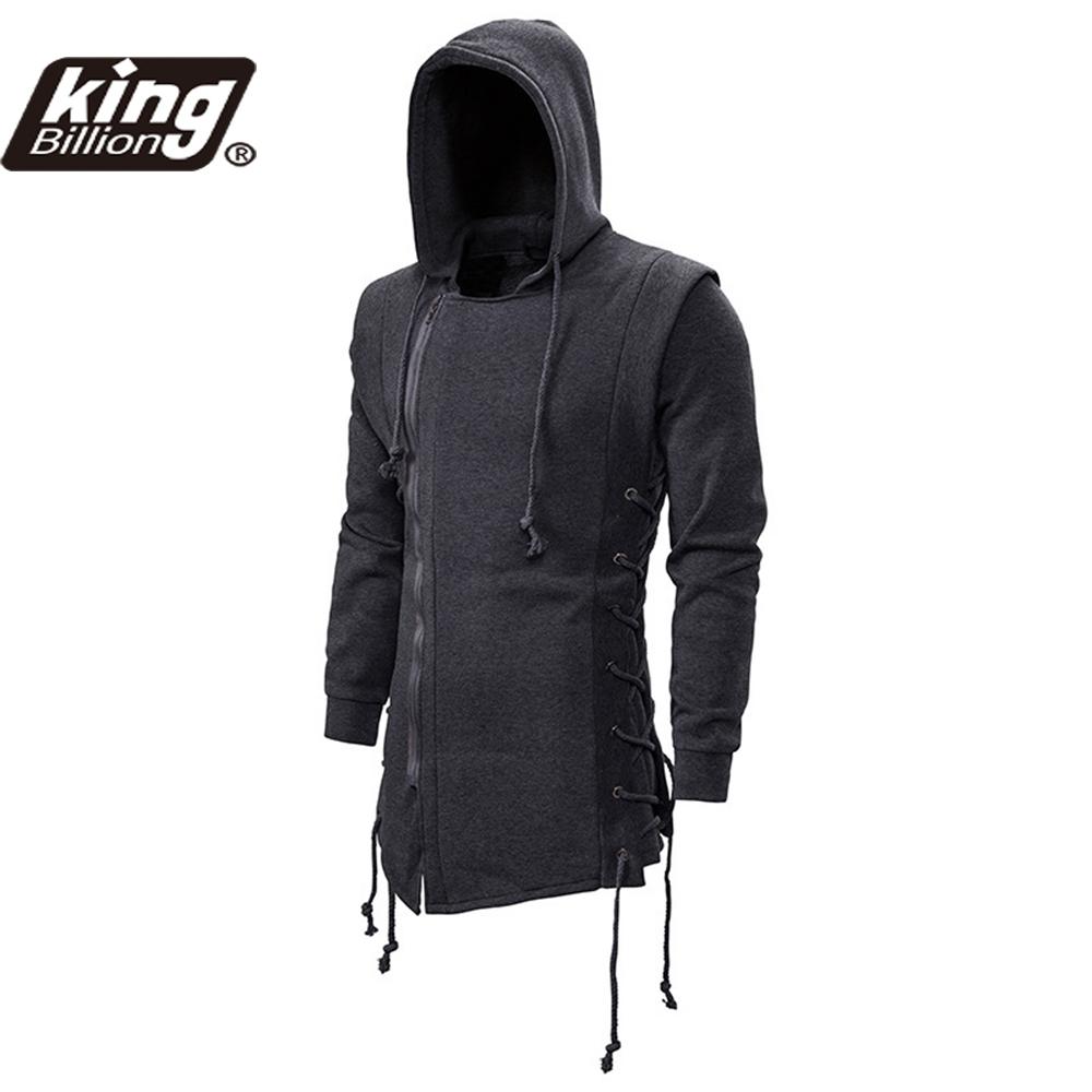 Autumn New Men Hoodies Sweatshirts Casual Solid Long Sleeve Hoodie Men Slim Fit Assassin's Creed  Dark Hooded Loose Jacket Coats
