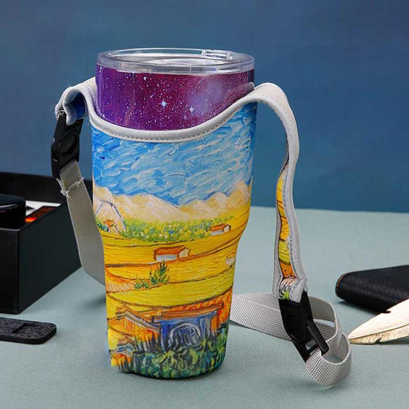 Botella de agua leche al aire libre bolsa de deporte portátil de viaje taza de manga más caliente bolsas de soporte de agua térmicas para chico botella de alimentación gran oferta