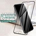 Закаленное стекло 2000D с изогнутыми краями для iPhone SE 2020 6 6S 7 8 Plus, стекло с полным покрытием для iPhone 11 Pro XS Max X XR, защита экрана