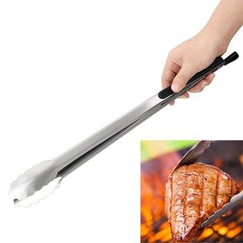 バーベキューサラダ食品クリップバーベキュートングステンレス鋼キッチンツール多機能グリルツール調理クリップクランプバーベキューアクセサリー
