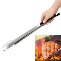 Churrasco salada clipe de alimentos pinças para churrasco ferramentas de cozinha de aço inoxidável multifunções ferramentas grill