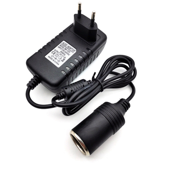 AC 220V to DC 12V Mini Car Cigarette Lighter 1A 2A 3A EU Plug Car Charger Transformer Adapter Socket Car Electronic Devices image