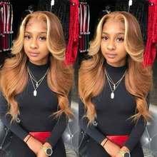 Медовые светлые кружевные передние парики 360, передний парик на сетке, предварительно выщипанные человеческие волосы на сетке, парики цветн...