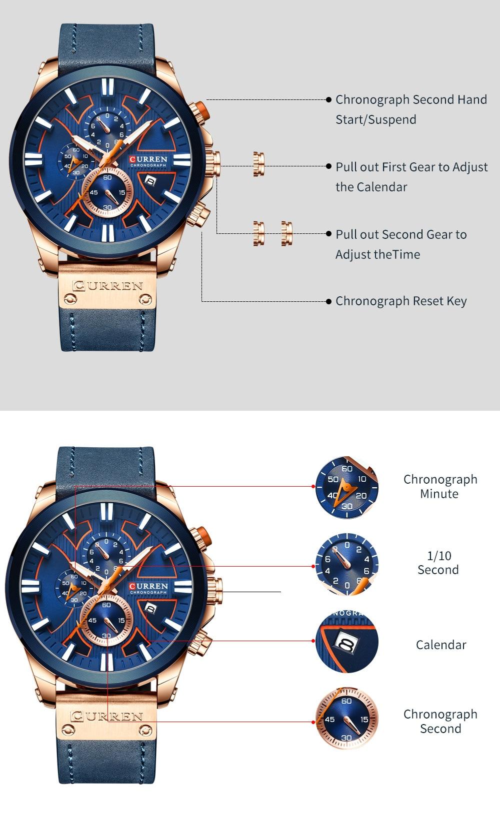 Hc832bb3f78284f8ab33b4cd8aafa8c5ec New CURREN Men Watches Fashion Quartz Wrist Watches Men's Military Waterproof Sports Watch Male Date Clock Relogio Masculino