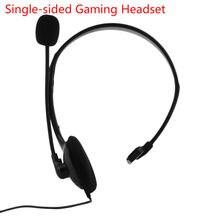 Fone de ouvido profissional single-sided gaming headset fone de ouvido com microfone para xbox um ps4 presentes