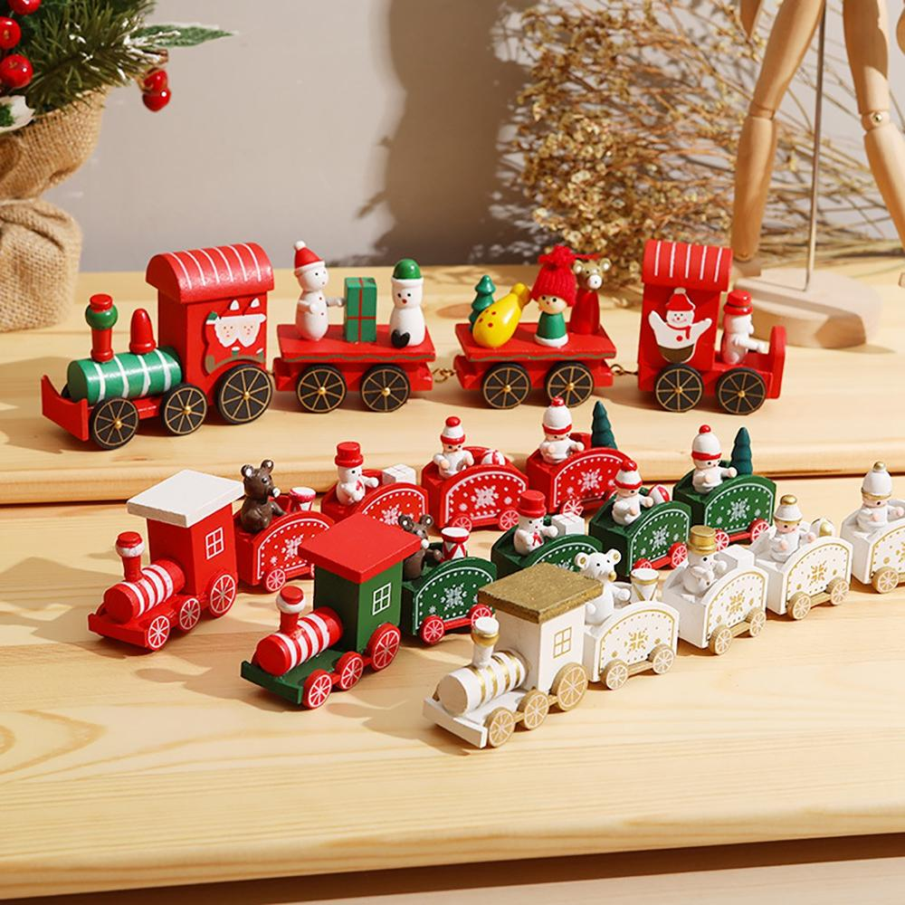 Wooden Christmas Train Ornaments Christmas Decorations For Home Santa Claus Christmas Table Deco Noel Navidad Xmas Gift New Year Pendant Drop Ornaments Aliexpress