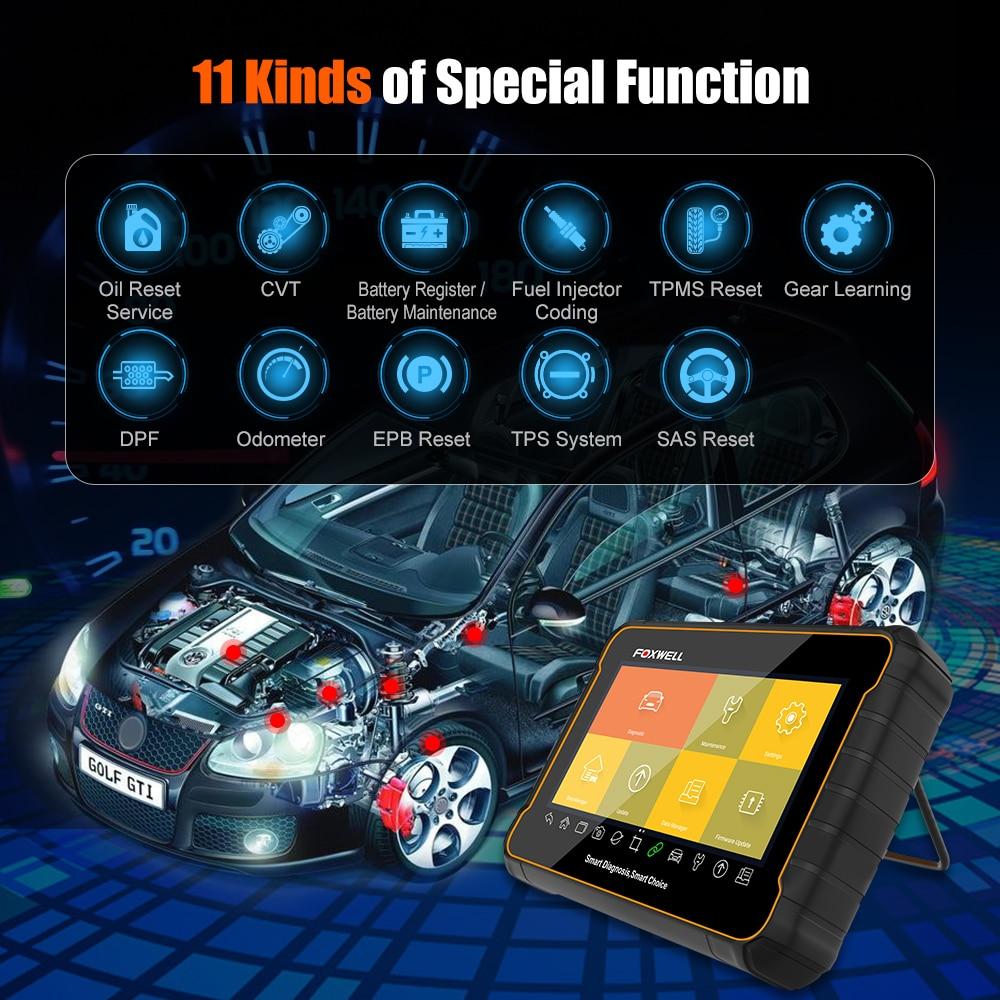 Foxwell GT60 Volle System Auto Scanner SAS DPF ABS TPMS Reset Injektor Codierung OBD 2 Code Reader Multi-sprache OBD2 Scanner