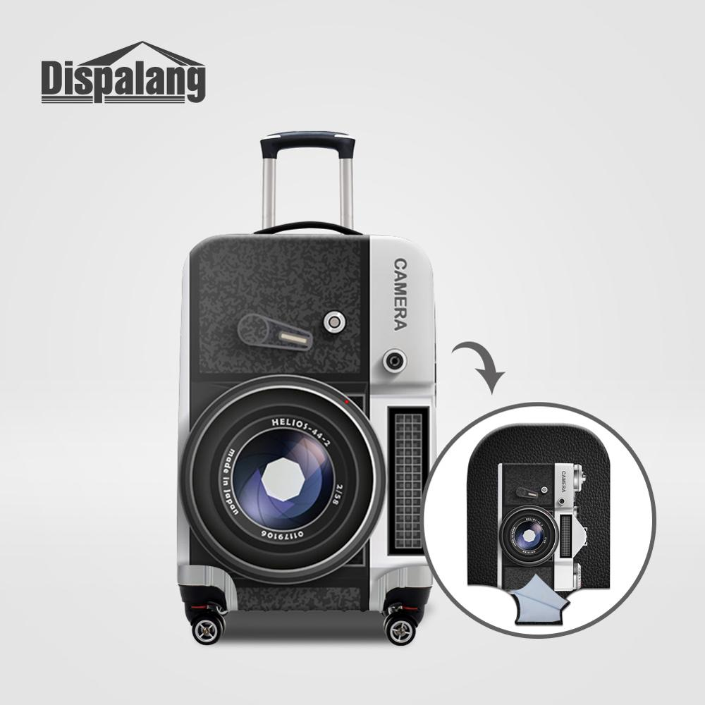 Dispalang Dustproof Luggage Case Suitcase Protective Cover Personalized Custom Camera Printing Travel Accessories For 18-32 Inch