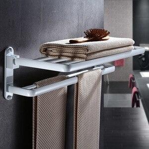 Fodable вешалка для полотенец белая 60 см полотенцесушитель алюминиевая полка для ванной комнаты аксессуары настенный держатель для полотенец