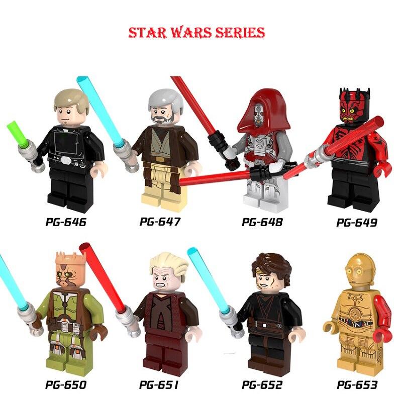 Star Wars Luke Walker ObiWan Sith Warrior Darth Maul Jedi Knight Mini Building Blocks Figure Legoingly Bricks Toys Kids Gift