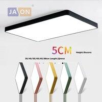 LED Moderne Iron Acryl Vierkante Zwart Wit 5cm Dunne LED Lamp. LED Licht. plafond Verlichting. LED Plafondlamp. Plafond Lamp Voor Foyer-in Plafondverlichting van Licht & verlichting op