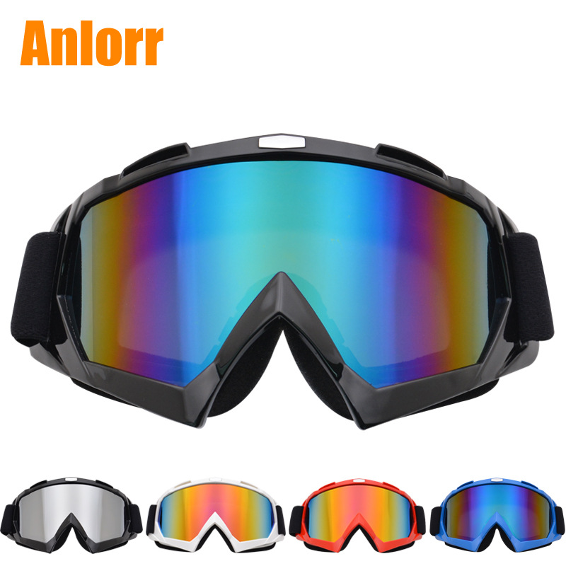 Anlorr Goggles For Motorcycle Off-road Locomotive Eye-protection Goggles Outdoor Windproof Helmet Glasses Riding Ski Goggles