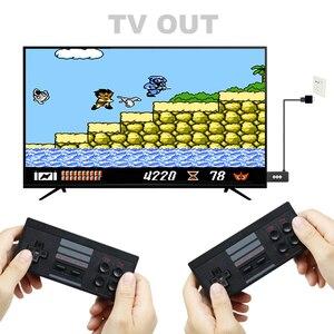 Image 2 - USB bezprzewodowy ręczny konsola do gier TV wideo budować w 1551 klasyczne 8 bitowych gier mini konsola podwójny Gamepad wyjście HDMI