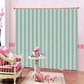 Curtain Decoration Customized size 3D Brief Graphics Curtains For Bedroom Living room Polyester Room Curtain