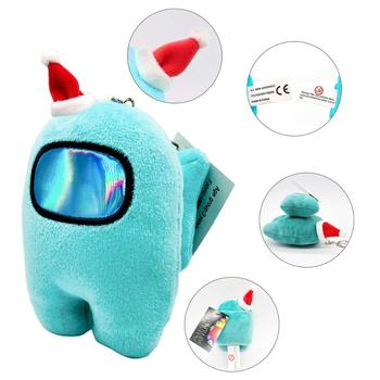 Christmas 10cm Among Us As Voice Plush Stuffed Soft Dolls The Squeaks Squeeze Press Sound Plushie Game Toy for Kid Anti Stress image