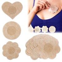 5 Pairs Gesamt 10 Stück Von Einweg vlies Nippel Aufkleber Plum Blossom Runde Liebe Herz Form Damen Persönliche produkte