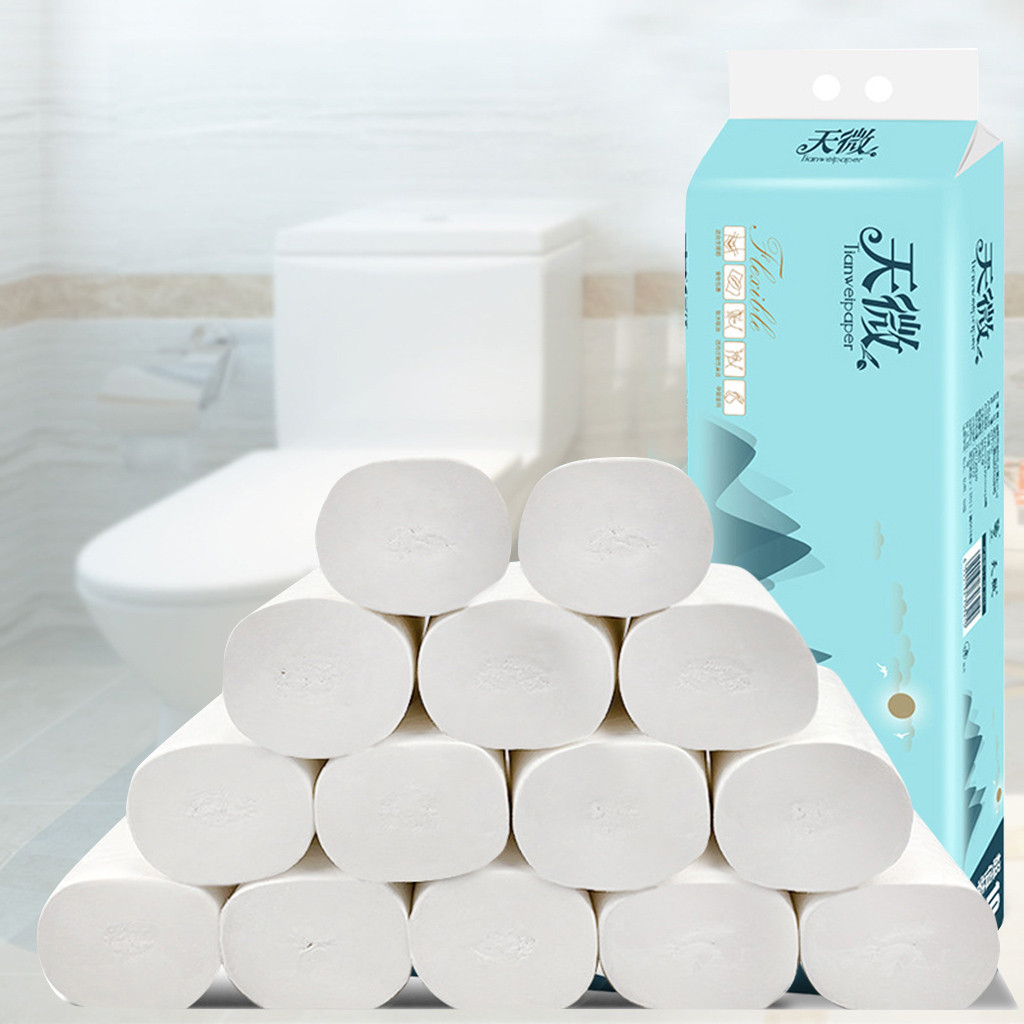 14 Roll Baby Paper Soft Toilet Paper Household Paper Roll Tissue Paper Household Multifold-Layer Soft Body Paper#3